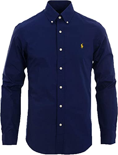 Ralph Lauren Shirt Navy Blau Poplin Classic Fit X-Large