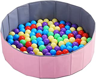 LIUFS-Playpen Ocean Ball Pool Thickened Indoor Children's Toy Ball Wave Ball Pool Folding Ball Pool Fence Color Ball Playpen (Color : B ball-100+Ball Pool)