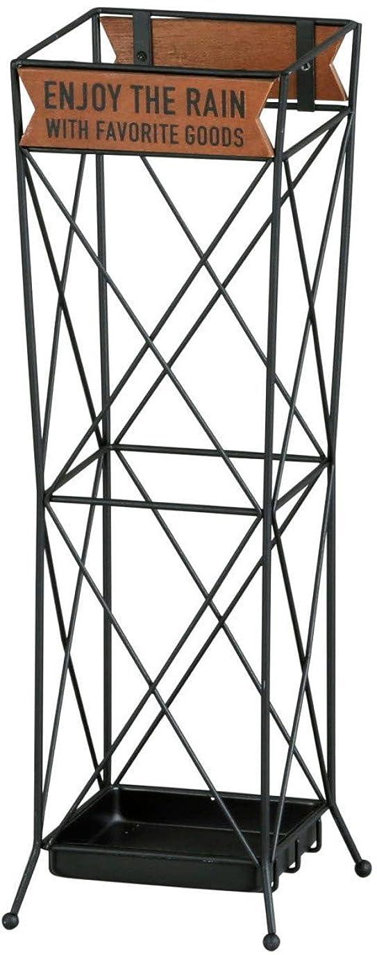 ブラウス保護するケーブルアビテ(Habiter) 傘立て ブラック 16×48×16cm ZI-502-BK