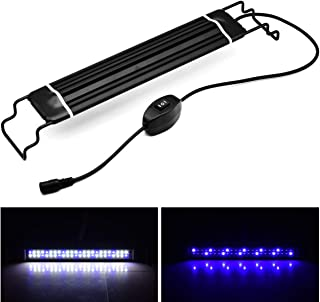 COODIA LED Aquarium Lights Blue and White Lighting Lam for Fish Planted Tank