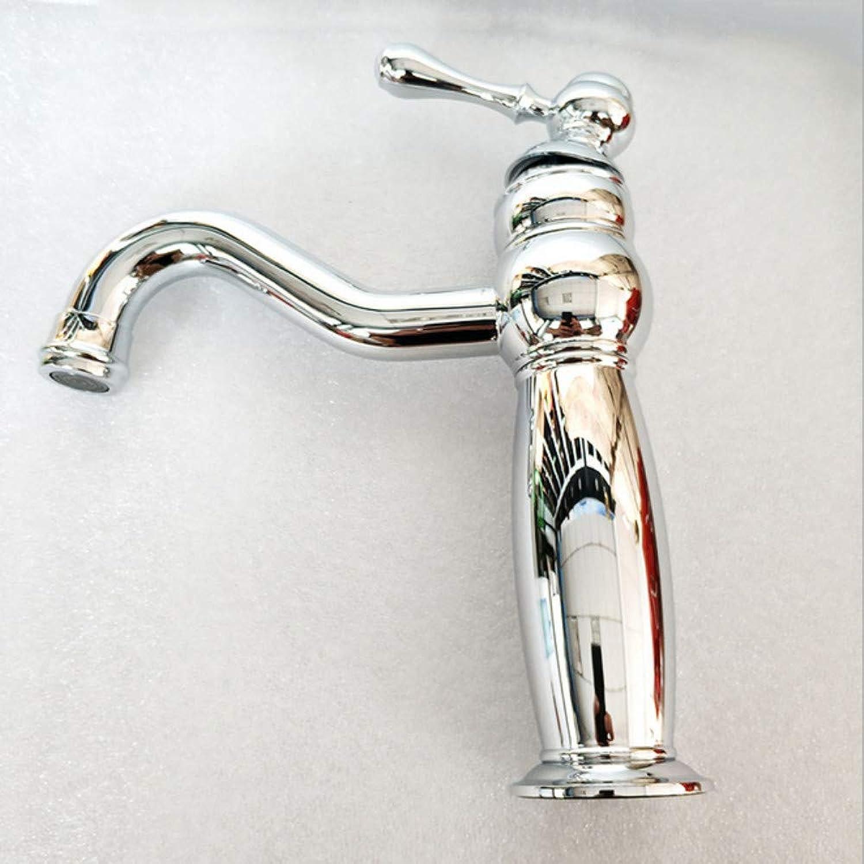 Xiujie Faucet Bathroom Vanity Faucet Faucet Copper Chrome Faucet Single Handle Double Control Hot and Cold Water Faucet