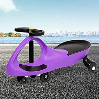 Keezi Kids Ride On Pedal Free Swing Car Toy Indoor Outdoor 110kg Capacity (Purple)