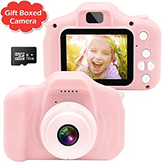 Gretex Gift Boxed Kids Camera, Kids Digital Camera for Kids, Birthday Festivals Gift for Age 3 4 5 6 Year Old Girls and Boys - Best Toys