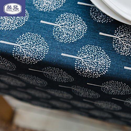WERLM Nappe rectangulaire Coton Mode Restaurant Linge de Table Nappe, Bleu, 140  220cm