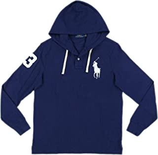 Polo RL Men's Big Pony Mesh Knit Hooded Tee