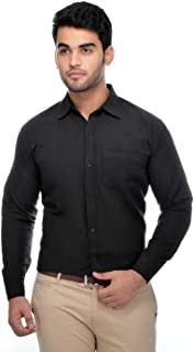 Khadi Vastra Men Solid Full Sleeves Formal Spread Shirt