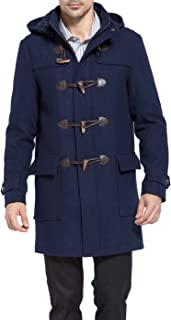 BGSD Men's Benjamin Wool Blend Classic Duffle Coat (Regular Big & Tall