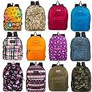 """24 Pack - 17"""" Kids Classic Padded Bulk Backpacks - Wholesale Case of Bookbags"""
