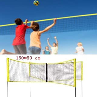 yunshuoa 150cm,Four-Sided Volleyball Net Set,Outdoor Backyard Beach Volleyball Net Badminton Net Portable Cross Volleyball Standard Net is Strong and Durable(Without Pole)