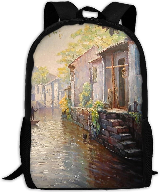 Adult Backpack Village Creek College Daypack Oxford Bag