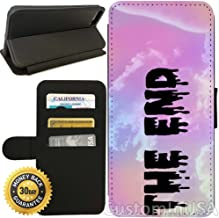 Flip Wallet Case for iPhone 7 (Pastel Goth The End) with Adjustable Stand and 3 Card Holders | Shock Protection | Lightweight | by Innosub