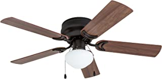 Prominence Home 50860 Alvina LED Globe Light Hugger/Low Profile Ceiling Fan, 42 inches, Bronze