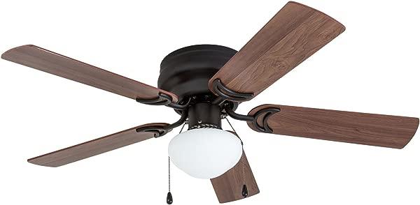 Prominence Home 50860 Alvina LED Globe Light Hugger Low Profile Ceiling Fan 42 Inches Bronze