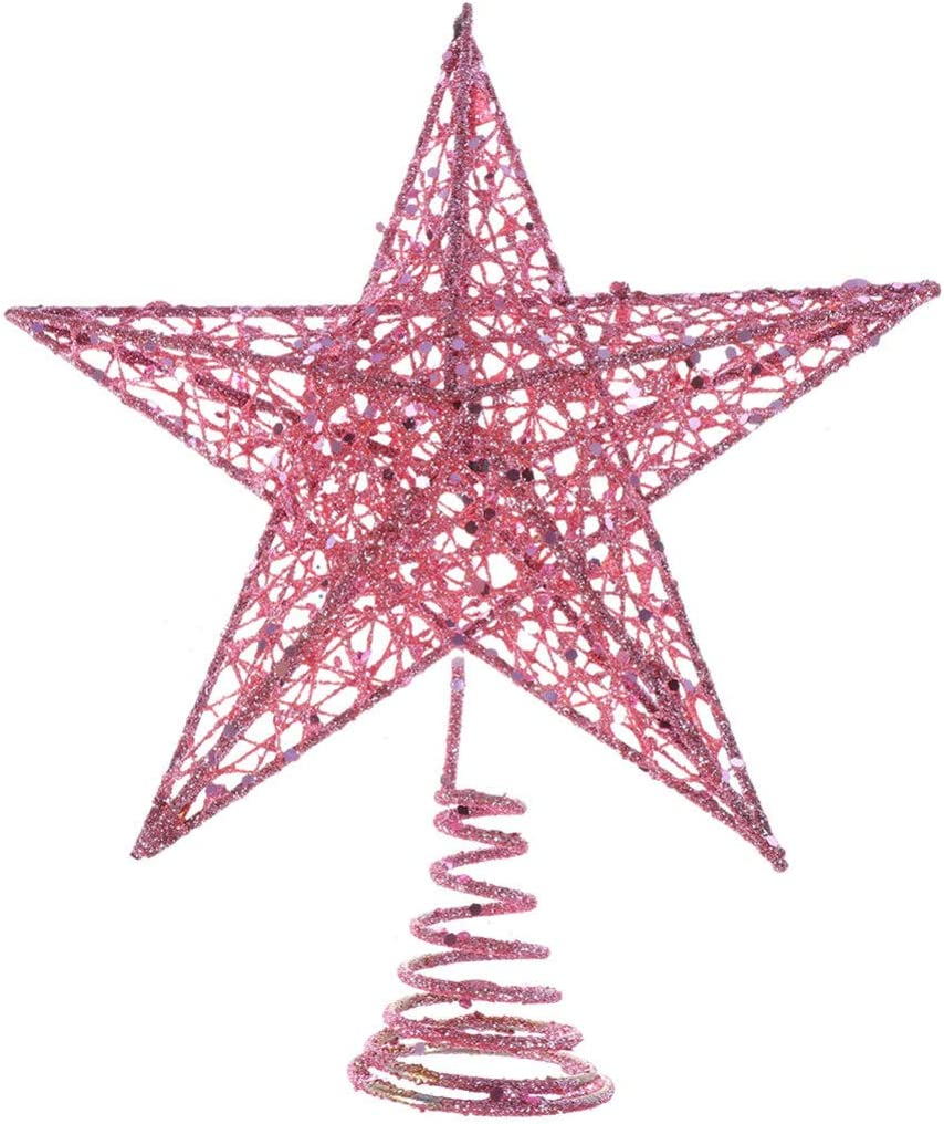 Holibanna Christmas Tree Easy-to-use Decoration 25% OFF Star Topper Glittering Iron