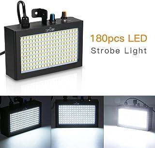Tomshine DMX512 Luz de Escenario, 180 LED Luz de Estroboscopio Flash Lámpara Portátil Auto Funcionamiento Control de Sonido Velocidad Activada Ajustable para Discoteca de Escenario Inicio Party KTV