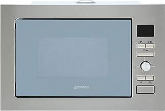 Smeg FMI425S - Microondas (Integrado, Microondas con grill, 25 L, 900 W, Botones, Giratorio, Acero inoxidable)