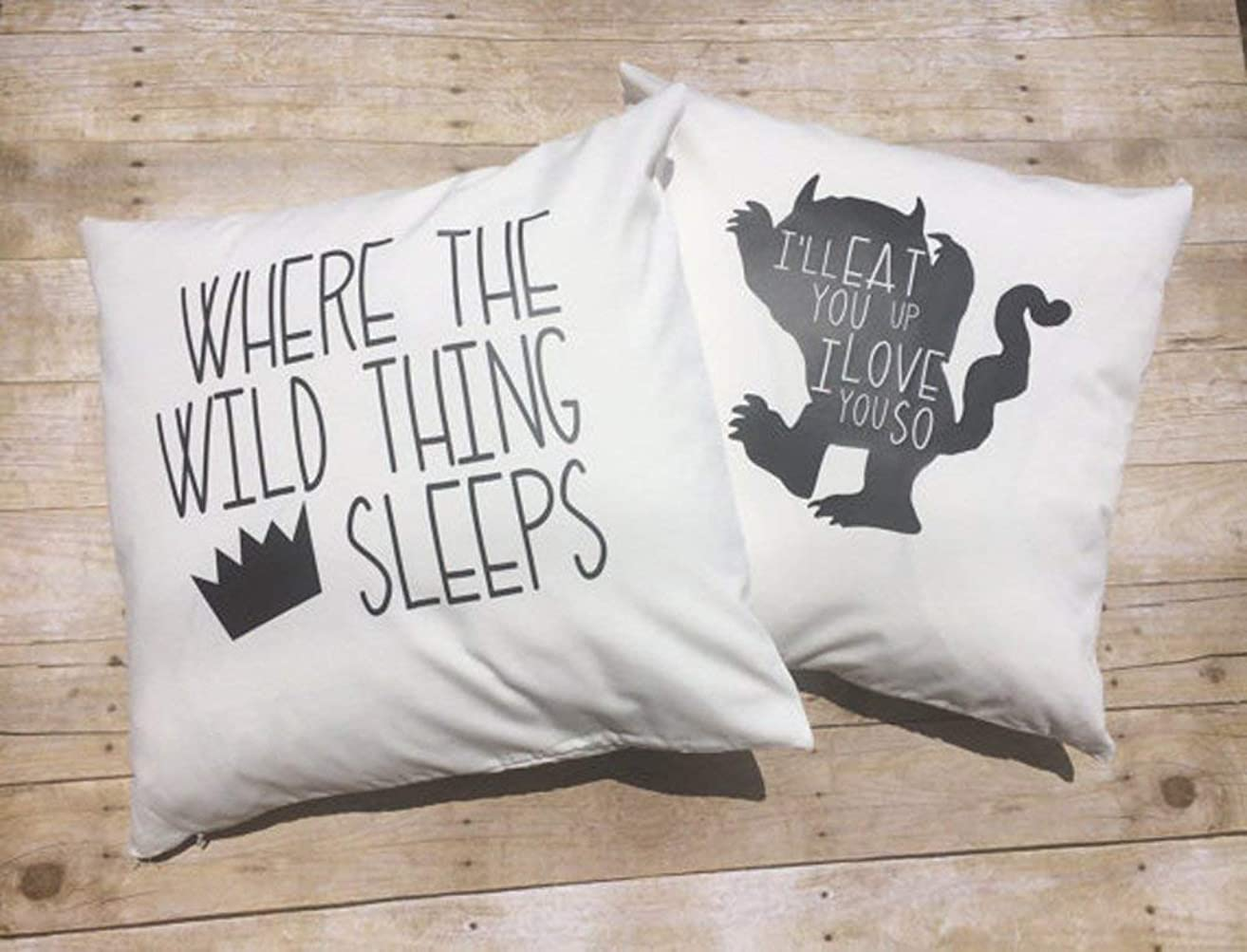 High quality Nursery Bedding Set, Custom 16x16 Wild Thing pillow covers, baby boy bedding, Where the Wild things Are, Crown pillow, boy room decor