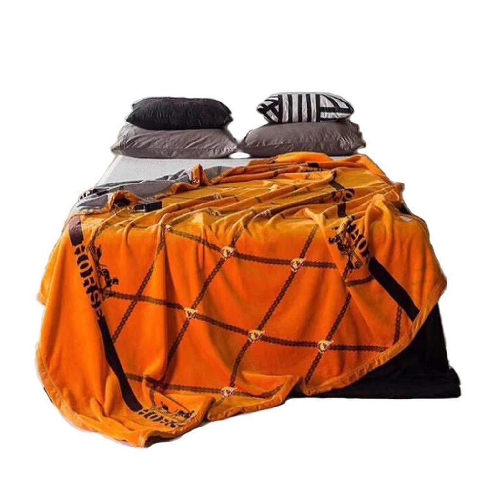【MarieAnge】 ホース柄 オリジナル ダブル毛布 ブランケット コーラルフリース 2 SS-752 (150㎝×200㎝)