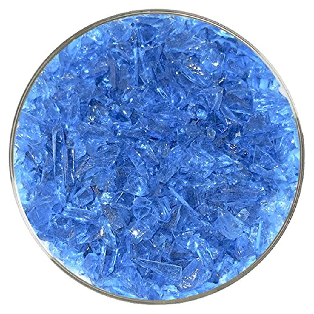 Blue Topaz Transparent Coarse Frit - 96COE - 4oz - Made from System 96 Glass