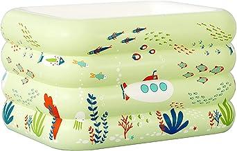 Piscina Piscina Infantil Cubierta, Fondo De Burbuja Suave, Cubo De Baño para Niños Multiusos, Material De PVC Duradero (Size : 134x102x64cm)