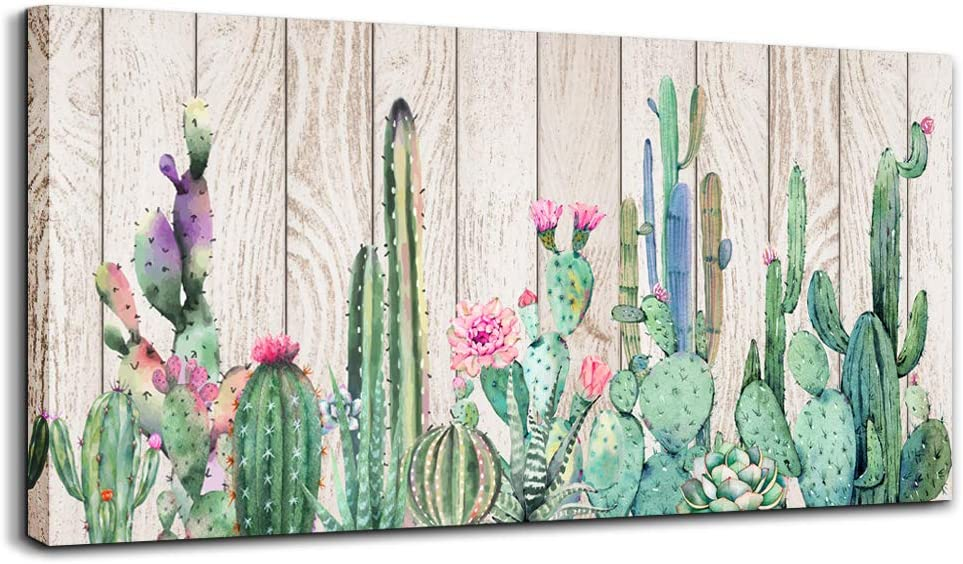 Canvas Wall Art Simple Washington Mall Life New product type Green Cactus W Painting Plant Desert
