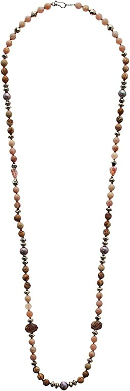 Long Sunstone Necklace