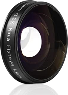 Opteka Platinum Series 0.2X Low-Profile HD Ultra Wide Fisheye Lens for Canon, Sony, JVC Video Cameras with 37mm Threads