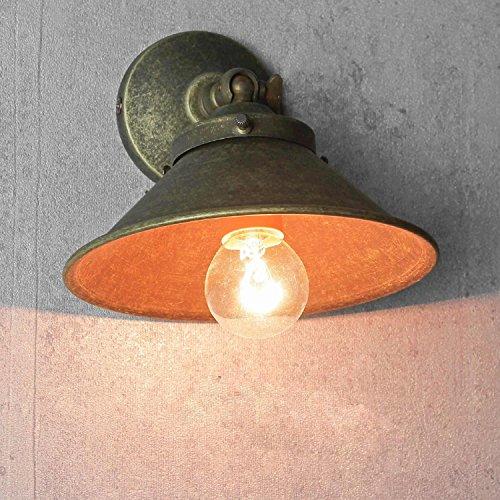 Premium Wandleuchte aus Messing Antik Industrie Design E14 bis 60W 230V Schlafzimmer Flur Wohnzimmer Esszimmer Lampe Leuchte innen Wandlampe Wandlampe Vintage