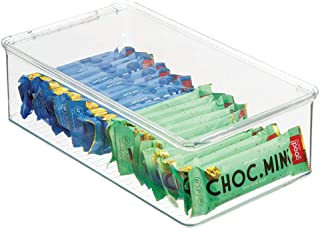 mDesign boîtes de rangement pour réfrigérateur – boites pour aliments avec couvercle à charnière – rangement pour frigo po...