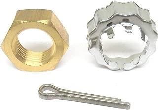 emp Prop Nut, Keeper, Cotter Pin Kit for OMC Cobra & Stringer Sterndrive 3.0L V6 V8 1978-1992 185 260 350 351 4.3L 5.7 5.8L Propeller Replaces 398042