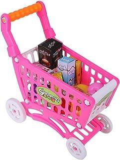 Barns shoppingvagn, dubbellager barns simuleringsvagn Barnvagn Barnleksaker leksaker barn rollspel, miljövänlig, giftfri o...