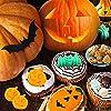 Stampo in Silicone per Halloween, HOMEK 2 pezzi Halloween Stampo per Torte Stampo per Zucca Cioccolato Biscotti Muffin, Antiaderente Riutilizzabile Stampo per Feste di Halloween #5