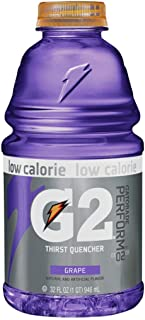 Gatorade G2 Sports Drink, Grape - Low Calorie, 32-Ounce Bottles (Pack of 12)