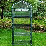 SH Cubierta de invernadero de 4 niveles de PVC para plantas, invernadero de repuesto para invernadero para jardinería, maceta, interior y exterior (soporte de hierro no incluido).