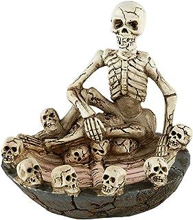 Skull Ashtray, Ashtray Skull Bones Decorative Resin Creative Skeleton Collectable Tobacco Ashtray for Home Decor Halloween...