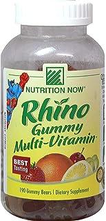 Nutrition Now Rhino Gummy Kids Multi-Vitamin Gummy Bears-190 Gummies