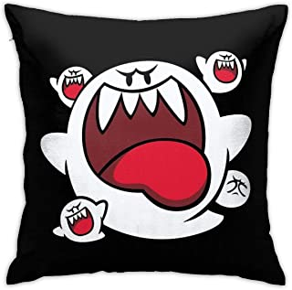 JACHE Super Mario - Boo Squad Decorative Throw Pillow Covers for Sofa Couch Cushion Pillow Cases 18x18 Inch