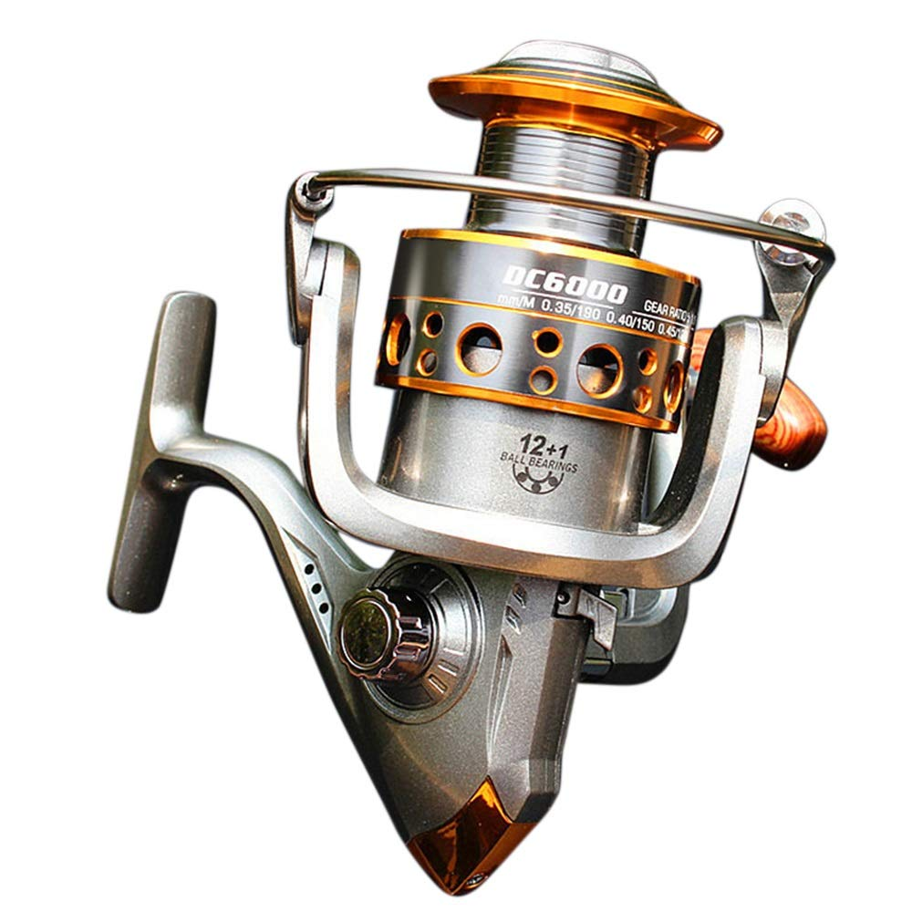 BAACHANG Carrete de Spinning, Zero Clearance Spinning Fishing ...