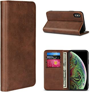 iCoverCase iPhone XS Max Case, Leather Wallet Card Holder Case Cover [Built-in Magnet] Shockproof Protective Flip Case for...