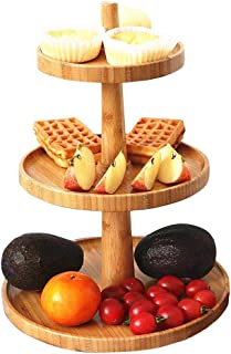wooden 3 tier stand