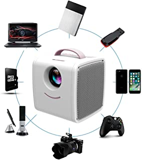 Mini Projector, Children'S Projector, Portable Support 1080P Home Theater, 20-80 Inch Projection, Can Be Connected To Mobi...