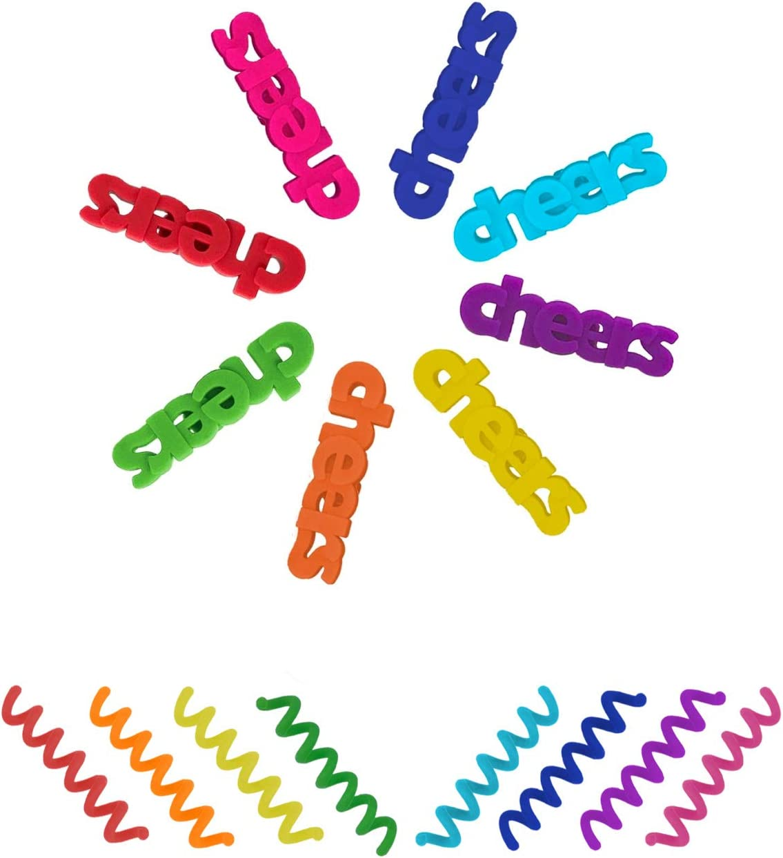 Silicone Wine Finally popular brand Dealing full price reduction Glass Charms - Bundle Identifiers and of Swirl 8