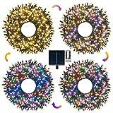 Guirlande Lumineuse Extérieur Solaire 30M,Ollny 300 LEDs Guirlande LED Solaire Multicolore et Blanc...