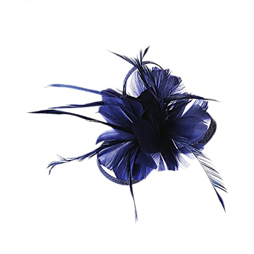 Flower Hair Clip Feathers Small Mini Top Hat Wedding Fascinator Royal Ascot Race
