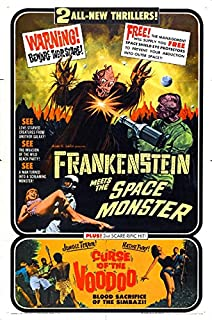 Combo Frankenstein meets Space Monster Movie Poster Replica 13 X 19