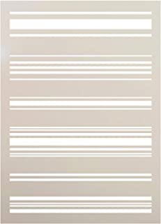 Tea Towel Stripe Stencil by StudioR12   Reusable Mylar Template   Paint Wood Sign - Fabric   Craft Rustic Pattern French Country Home Decor   DIY Farmhouse Scrapbook- Journal - Stamping   Select Size