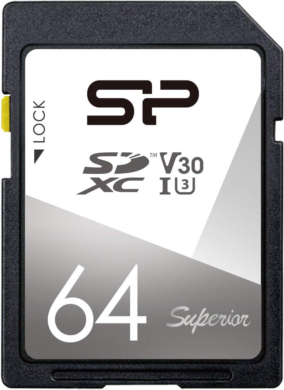Silicon Power 64GB UHS-1 U3 V30 Superior SDXC Memory Card