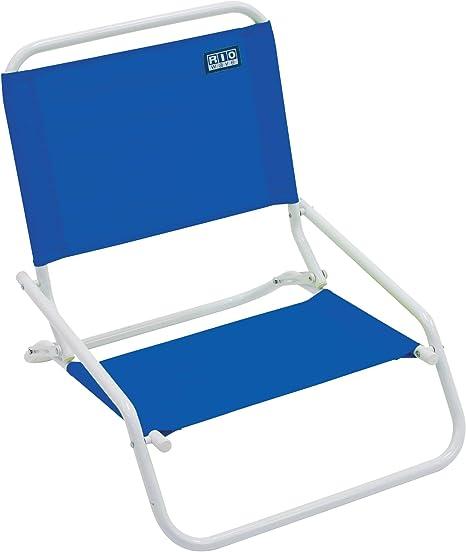 RIO beach Wave 1-Position Beach Folding Sand Chair - Pacific Blue : Sports  & Outdoors - Amazon.com