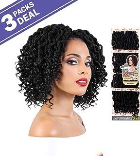 MULTI PACK DEALS! Motown Tress Synthetic Hair Crochet Braid 4X Curly Goddess Locs 9