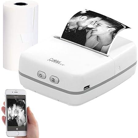 Callstel Mini Thermodrucker Mobiler Akku Foto Thermodrucker Android Ios Bluetooth App 57 Mm Drucker Bürobedarf Schreibwaren